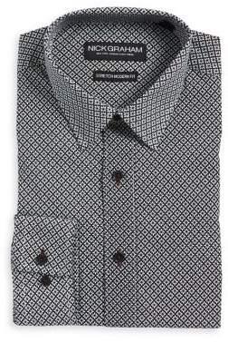Nick Graham Floral Stretch Modern-Fit Button-Down Shirt