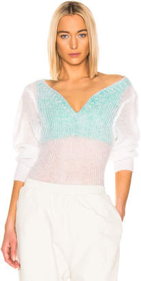 Y/Project Off Shoulder Sweater in White | FWRD