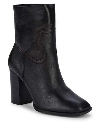 Splendid Nero Square-Toe Leather Ankle Boots