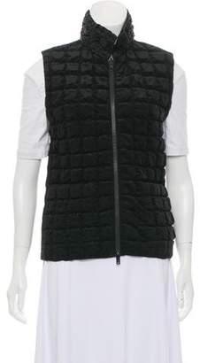 Issey Miyake Textured Mock Neck Vest