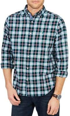 Nautica Classic Fit Casual Brushed Twill Shirt