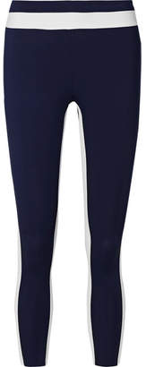 Vaara Freya Tuxedo 7/8 Striped Stretch Leggings - Navy