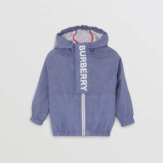 Burberry Logo Print Lightweight Hooded Jacket