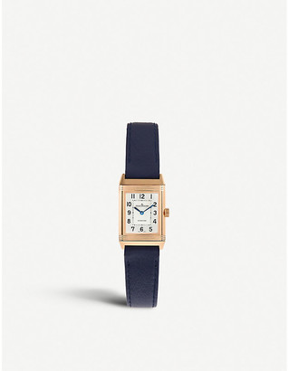 Jaeger-LeCoultre 2572420 Reverso rose gold-plated and alligator leather watch