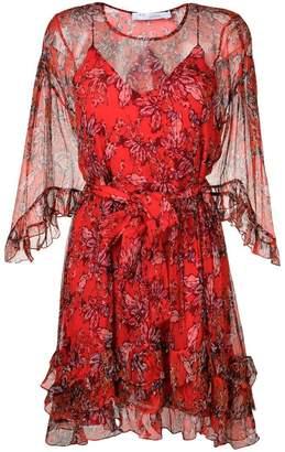 IRO ruffled floral print dress