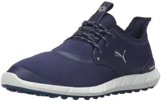 Puma Men's Ignite Spikeless Sport Golf Shoe, Peacoat Silver White, 8.5 Medium US