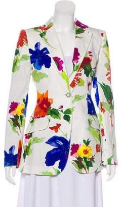 Dolce & Gabbana Printed Notch-Lapel Blazer