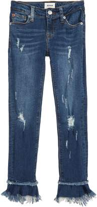 Hudson Ripped Ruffle Crop Jeans