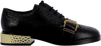 Ash Black/gold Leather Loafers