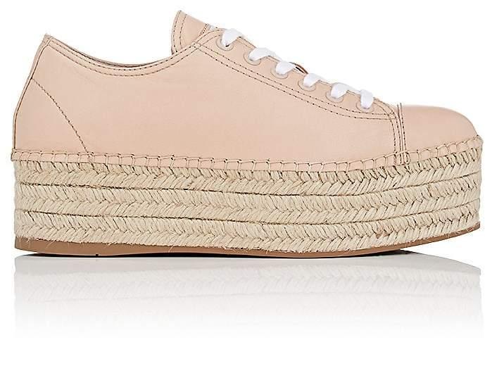 Miu Miu Women's Leather Platform Espadrille Sneakers