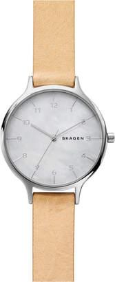 Skagen Women's Anita Blush Leather Strap Watch 36mm SKW2634