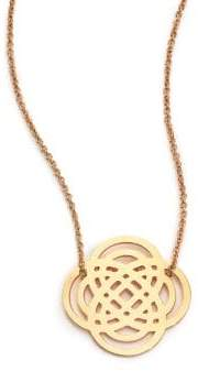ginette_ny Baby Purity Lariat Necklace - Yellow Gold