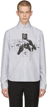 Prada Grey and White Eyes Shirt