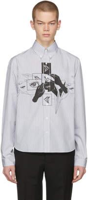 Prada Grey and White Eyes Shirt