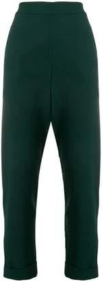 P.A.R.O.S.H. high-waist cropped trousers