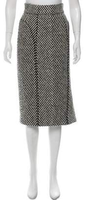 J. Mendel Wool Midi Skirt