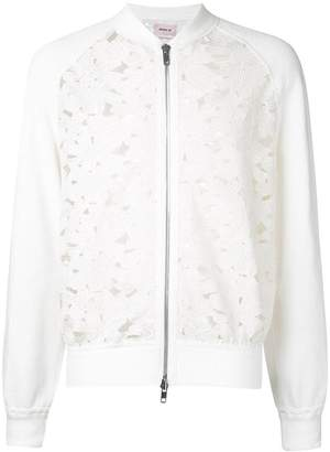 Marna Ro floral lace bomber jacket