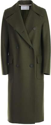 Harris Wharf London Boxy Double-breasted Long Coat