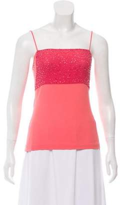 Narciso Rodriguez Embellished Sleeveless Top