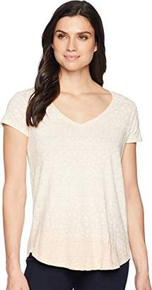 Lucky Brand Women's Ombre Tile Print Graphic TEE