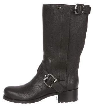 Christian Dior Leather Round-Toe Boots