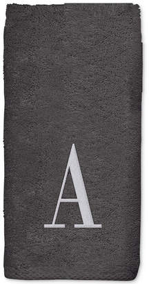 Avanti Monogram Brown Embroidered Bath Towel Bedding