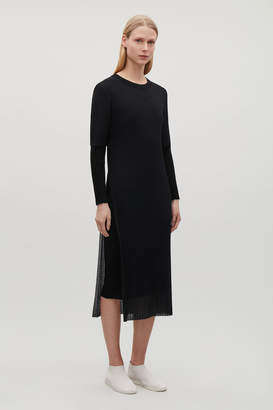 Cos LAYERED SHEER KNIT DRESS