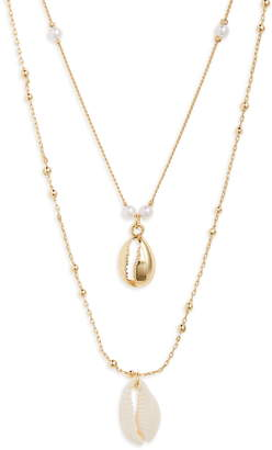 BP Double Layer Shell Necklace