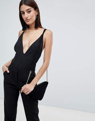 Asos Design DESIGN Extreme Plunge Sleeveless Body
