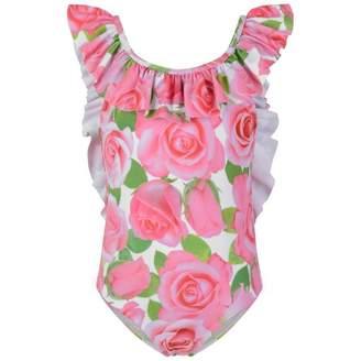 Kate Mack Kate MackGirls Pink Rose Swimsuit