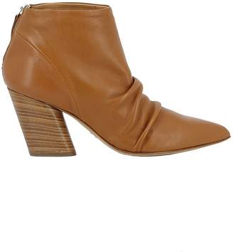 Halmanera Caramel Leather Ankle Boots