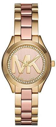 Michael Kors Women's Mini Slim Runway Gold-Tone Watch MK3650