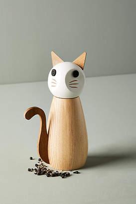 Anthropologie Wooden Cat Spice Grinder