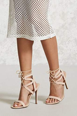 FOREVER 21+ Faux Suede Strappy Ankle Heels