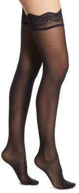 Wolford Velvet Light Stay-Up Thigh Highs