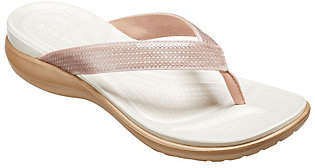 Crocs Flip Sandals - Capri V Sequin