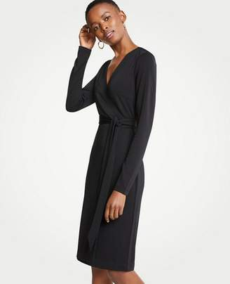 Ann Taylor Petite Matte Jersey Wrap Dress