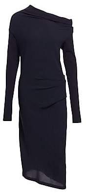 Brunello Cucinelli Women's Off-The-Shoulder Ruched Midi Dress