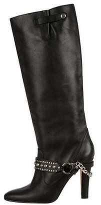 Manolo Blahnik Leather Studded Boots