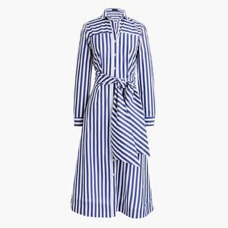 J.Crew Tie-waist shirtdress in stripe