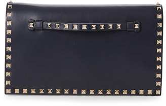 Valentino Marine Navy Rockstud Leather Convertible Wristlet