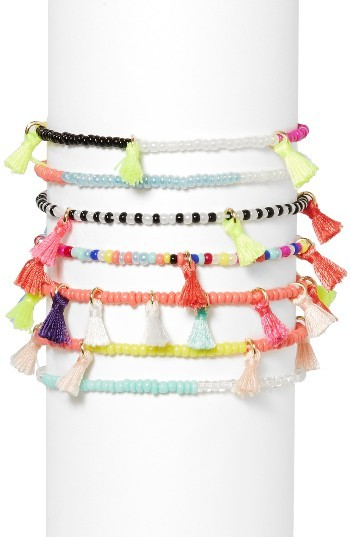 Women's Baublebar Suri Set Of 7 Stretch Bracelets
