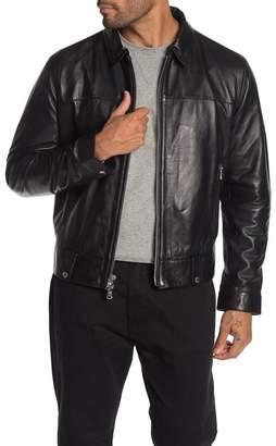 John Varvatos Marley Leather Zip-Up Jacket