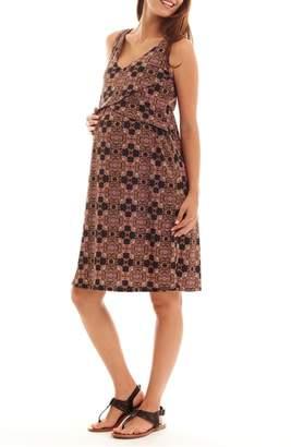 Everly Grey Pia Print Maternity/Nursing Dress