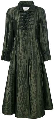 Christian Dior Pre-Owned padded diamond quilted coat