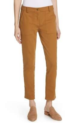 Eileen Fisher Slim Stretch Cotton Pants