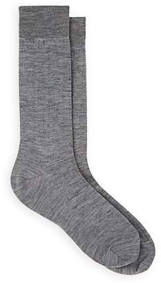 Barneys New York Men's Pin-Dot Stretch-Wool Mid-Calf Socks