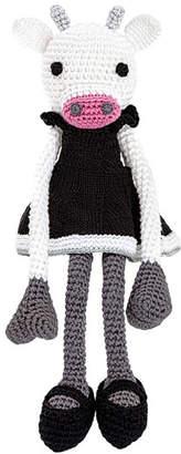 leggybuddy Fiona Bella Crocheted Cow Stuffed Animal, Black