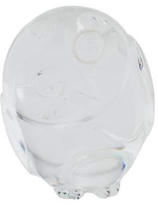 Steuben Crystal Owl Hand Cooler