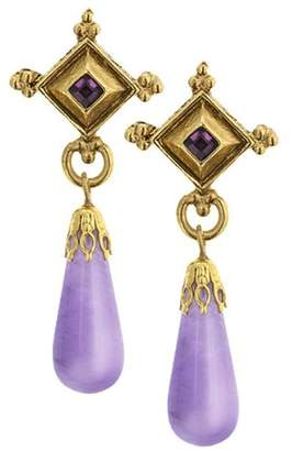 Couture Antiquities L'aura Pourpre Athena Earrings